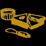 Brot und Fruchtaufstrich mit Messer