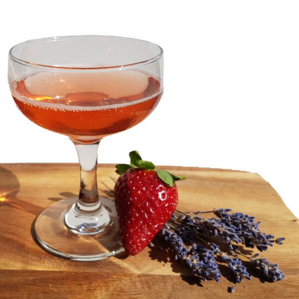 Erbeer Lavendel Cocktail