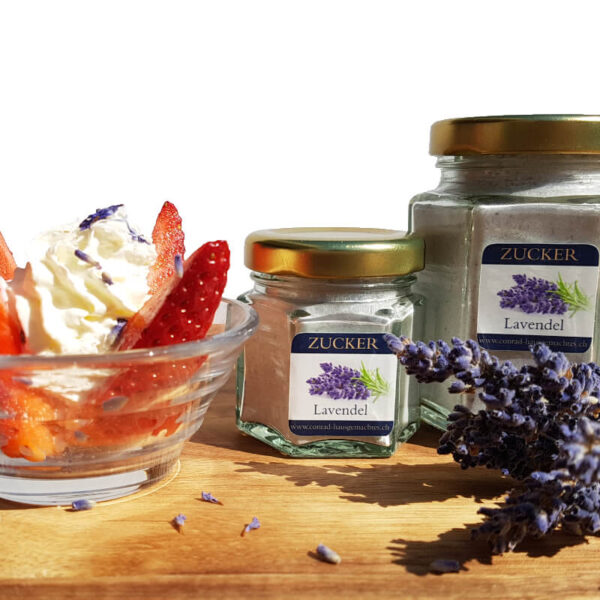 Lavendel Erdbeere Zucker